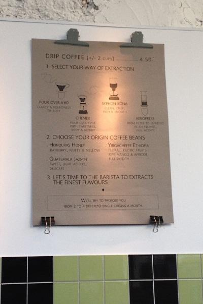 Coffee at café du sablon