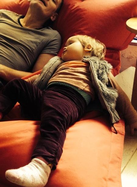 Emma & K. asleep