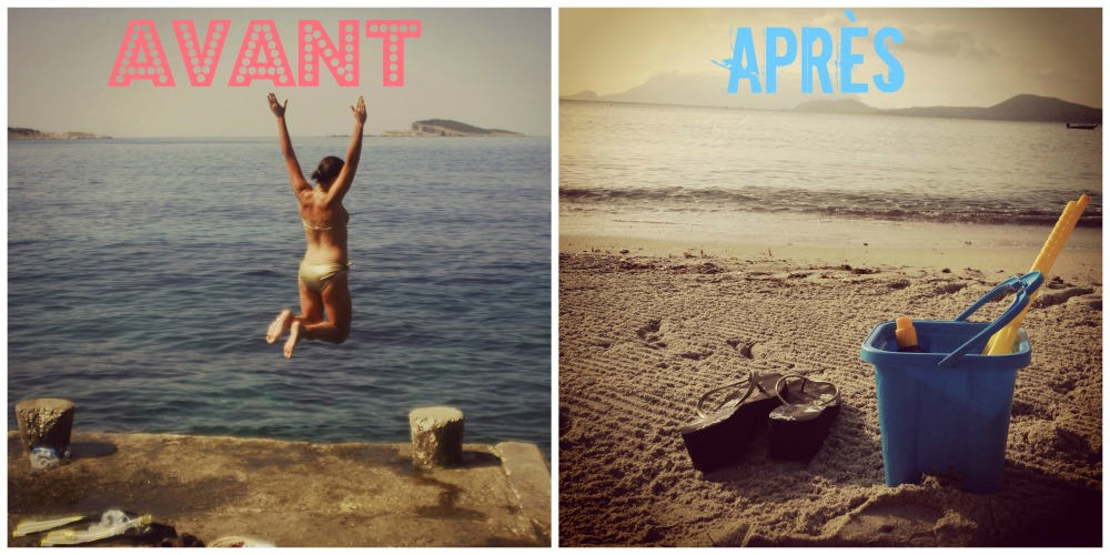 Les vacances, avant/après
