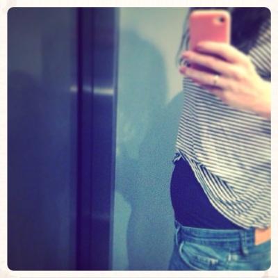 Pregnant again.