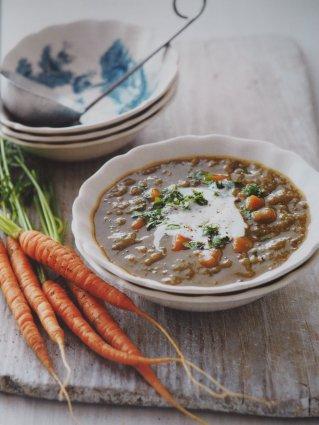 Recette soupe carotte lentilles