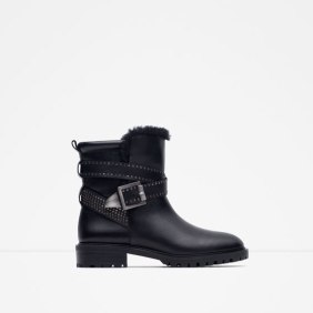 Bottines de motard Zara