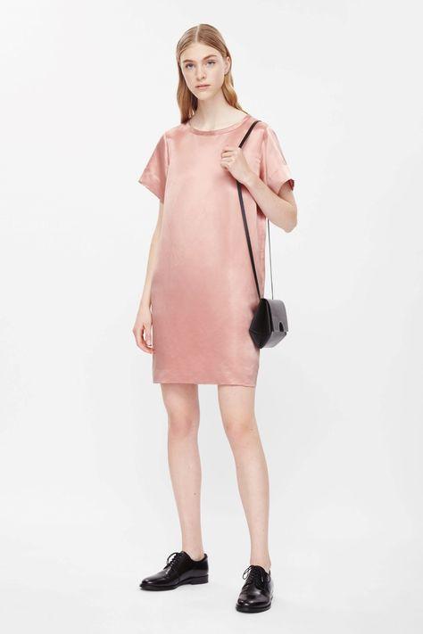 silk dress COS