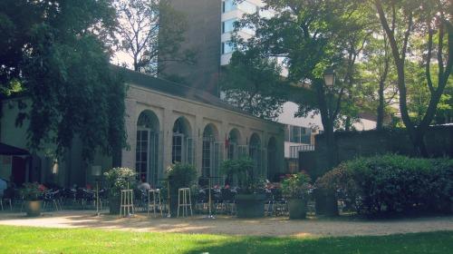 Terrace of the orangerie - Egmont Park