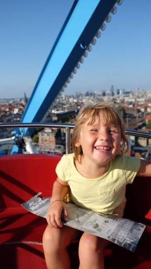 Emma on the big wheel